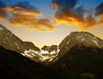Mountain range in the valley Antholzertal, Italy Stock Photography