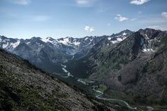 Mountain range with valley, Royalty Free Stock Photo