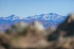 Mountain range view Stock Photography