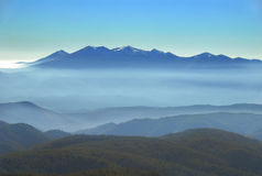 Mountain range vista stock photography