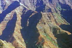 Mountain Range in Waimea Canyon, Kauai, Hawaii Royalty Free Stock Photography