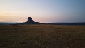 Mountain range in waterberg game park Stock Photography