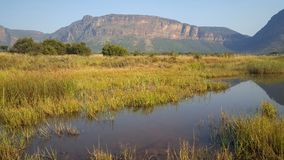 Mountain range in waterberg game park Royalty Free Stock Photography