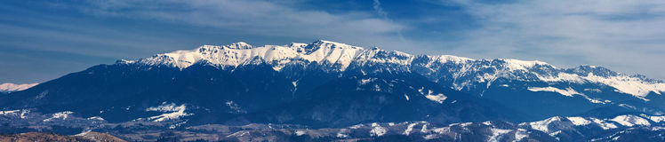 Mountain range in winter, Bucegi Mountains, Romania Stock Photography