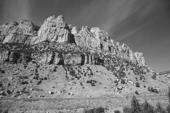 Mountain Range - Wyoming Black and White Stock Photography