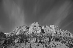 Mountain Range - Wyoming Black and White Stock Photos