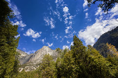 Mountain range in Yosemite National Park, California, USA. A mountain range, Yosemite National Park, California, USA Royalty Free Stock Image