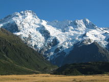 Mountain Ranges. View of mountain ranges near Mt Cook in Mackenzie country New Zealand Stock Image