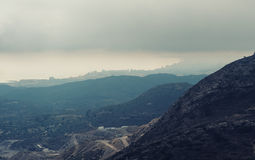 Mountain ranges in Alicante Stock Image