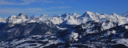 Mountain ranges in the Bernese Oberland Royalty Free Stock Image