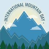 International Mountain Day, 11 December. Mountain ranges conceptual illustration Royalty Free Stock Image