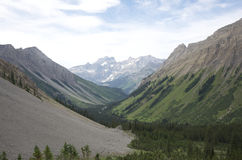 Mountain Ranges and Green Valleys Royalty Free Stock Photos