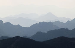 Mountain Ranges Haze Royalty Free Stock Images