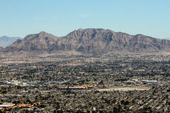 Mountain Ranges just outside Las Vegas, NV. Royalty Free Stock Photos