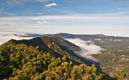 Mountain ranges of Krkonose mountains from Krakonos hill Royalty Free Stock Photos