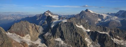 Mountain ranges seen from mount Titlis Stock Photo