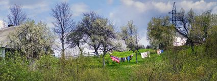 Mountain ranges of Ukraine stock photo