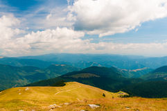 Mountain ranges under the clouds Stock Photography