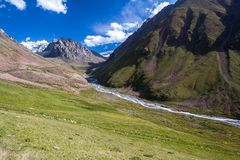 Mountain ravine. Tien Shan Royalty Free Stock Images