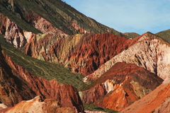 Mountain ravines in Argentina Royalty Free Stock Images