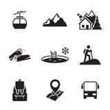 Mountain recreation icons Stock Photos