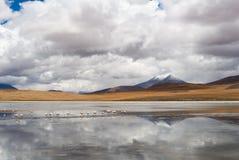 Mountain, reflecting in the lake Royalty Free Stock Photos