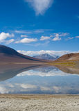 Mountain, reflecting in the lake stock photo