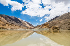 Mountain reflecting in a lake in Ladakh Royalty Free Stock Photos