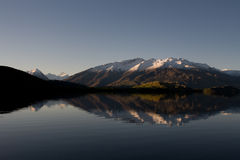 Mountain reflection. In Lake, new zealand Royalty Free Stock Image
