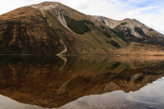 Mountain reflection. In Lake, new zealand Stock Images