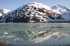 Mountain Reflection. This is a mountain reflection taken in Alaska Royalty Free Stock Photography