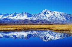 Mountain reflection Stock Image