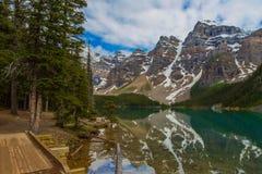 Mountain in reflection Stock Photos