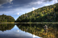 Mountain reflection in fall. Mountain reflection on a lake Royalty Free Stock Photos