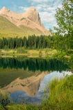 Mountain reflection, Ha LIng Peak Royalty Free Stock Photos