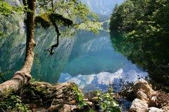Mountain reflection in a lake Stock Photos