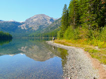 Mountain Reflection on Lake Royalty Free Stock Photography