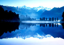 Mountain reflection on lake Stock Image