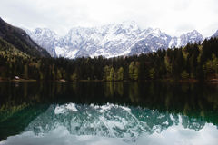 Mountain reflection on lake Royalty Free Stock Photo