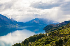 Mountain & reflection lake from view point on the way to Glenorchy , New Zealand Royalty Free Stock Image