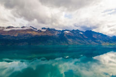 Mountain & reflection lake from view point on the way to Glenorchy ,New Zealand Royalty Free Stock Image