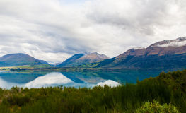 Mountain & reflection lake from view point on the way to Glenorchy , New zealand Stock Image