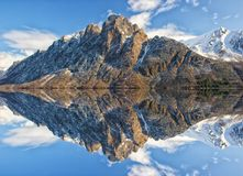 Mountain, Reflection, Mountainous Landforms, Mountain Range Stock Photos