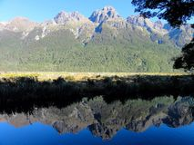 Mountain reflection Stock Photos