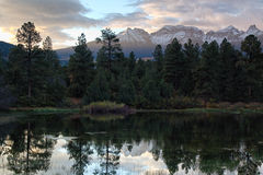 Mountain Reflections. Dawn at the Mt Sneffels Range in Colorado Royalty Free Stock Image