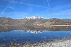 Deer Creek reservoir, Utah. Mountain reflections in the Deer Creek Reservoir Royalty Free Stock Images