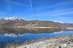 Deer Creek Reservoir, Utah. Mountain reflections in Deer Creek Reservoir in winter Royalty Free Stock Images