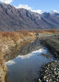Mountain Reflections in Fall Stock Photography