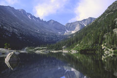 Mountain reflections in a lake Royalty Free Stock Images