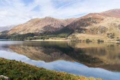 Mountain reflections in a lake. Mountains reflected in Buttermere Lake, Lake District, Cumbria, england Royalty Free Stock Photography